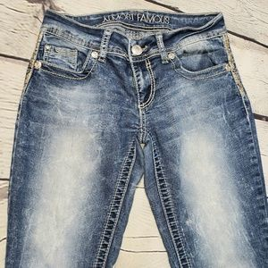Almost Famous faded distressed skinny jeans size 3